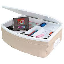 portable lap desk with storage storage lap desk with ipod speakers tan in desks compartment remodel