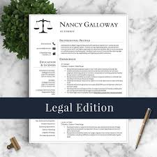 Criminal Defense Attorney Resume Sample by Legal Resume Template For Word And Pages Lawyer Resume