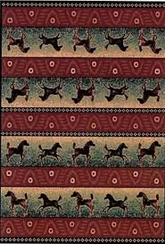 Western Style Area Rugs Large Western Style Area Rug Westerns Thunder And Running