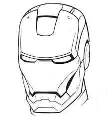 iron man mask coloring pages getcoloringpages com