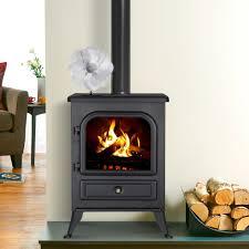 heat powered 4 blade wood log burner stove eco fan fireplace fan