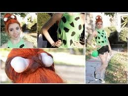 Flinstone Halloween Costume Pebbles Flintstone Diy Halloween Tutorial Makeup Hair