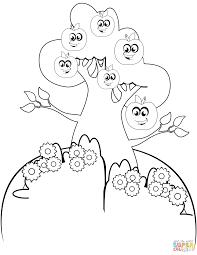 cartoon apple tree coloring page free printable coloring pages
