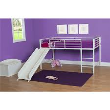 DHP Junior Loft With Slide White Dorel Home Products ToysRUs - Essential home bunk bed