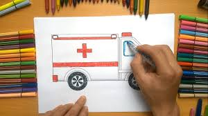 how to color ambulance ambulance coloring pages coloring pages