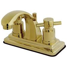 Polished Brass Bathroom Fixtures by Kingston Brass Concord Collection Tagged