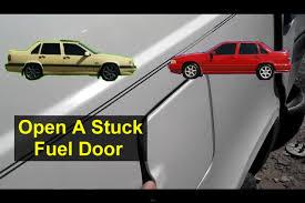 fuel door stuck closed how to release it volvo 850 s70 v70