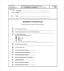 sample incident action plan template 7 free documents