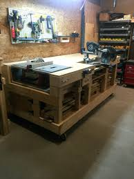 build garage workbench with drawers garage workbench and cabinet