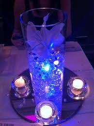lighting and centrepieces aqua lights wedding event lighting