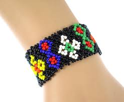 bracelet crochet beads images Nepal handmade bead bracelet hippy friendship popular roll crochet jpg