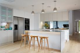 Modern White Kitchen Backsplash Contemporary Kitchen New Stunning Kitchen Pendant Lights And