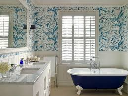 paper wallpaper rolls with window powder room beach style and
