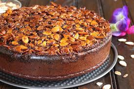 chocolate almond cake cook with kushi