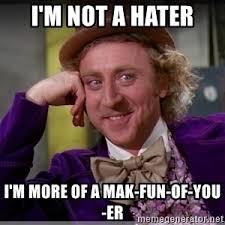 Hater Meme - not a hater meme generator