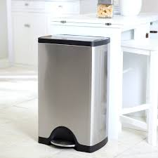 indoor trash can in stainless small trash can with swing lid small