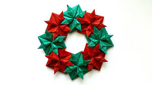 how to make an origami christmas wreath youtube