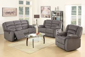 Fabric Reclining Sofa Jagger Grey Fabric Recliner Sofa