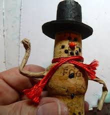 wine cork snowman ornament favecrafts com