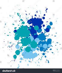 blobs splashes paint color blue splashes stock vector 470459096