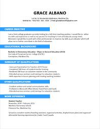 sample of resume cover letter teaching for fresh graduates free