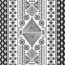 ornaments pattern white with black vector free vector in
