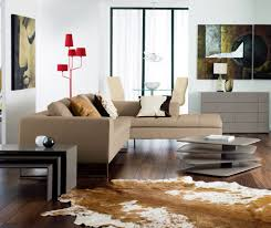 Decorating Living Room With Leather Couch Furniture Chic L Shaped Beige Leather Sofa With Modern Red