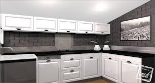 cuisine blanc et noir photo cuisine grise et