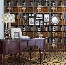 livingroom bar haokhome vintage vinyl blue bookshelf liabrary design embossed 3d