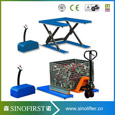 Pallet Lift Table by 1ton Electric Static Scissor Goods Lift Table Pallet Scissor Lift
