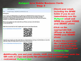 Scan Business Cards Android Myagentnow Live Mobile Business Cards