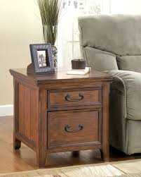 woodboro traditional dark brown wood end table w file cabinet