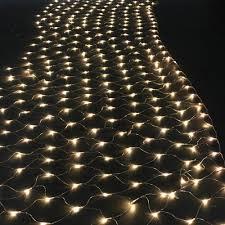 agptek 300 led warm white net mesh string lights for wedding