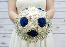 Wedding Flowers Keepsake Handmade Royal Blue Keepsake Bouquet Thesunnybee