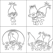 free downloadable trolls colouring sheets kids coast