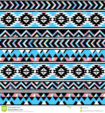 tribal aztec seamless blue and pink pattern illustration 37704725
