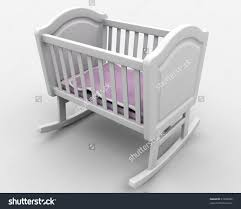 wooden baby cot stock photos images pictures shutterstock rocking