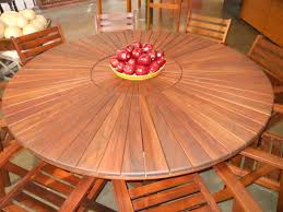 Round Garden Table With Lazy Susan by Furniture Inspiring Rotary Dining Table Design Ideas By Lazy