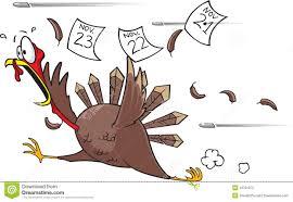 thanksgiving turkey animations running scared turkey stock photography image 10781072