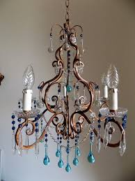 Bird Cage Chandelier Florence Vintage Wrought Iron Birdcage Chandelier Murano Drops