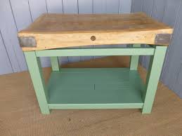 furniture exquisite rectangular antique butchers block as