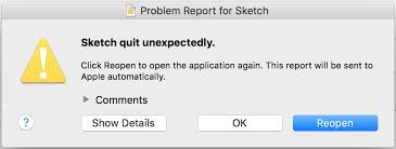 the last time you opened sketch it unexpectedly quit while