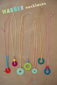 diy necklace images Diy washer necklaces kid 39 s summer craft handmade jewelry with jpg