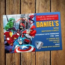 avengers party invitations u0026 envelopes