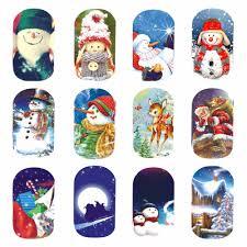 aliexpress yzwle 1 sheet nail art water tattoo snowman theme