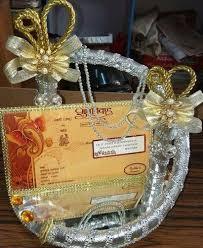wedding platter decoractive items wedding card platter retailer from bikaner