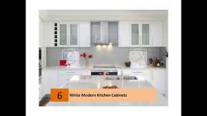Pictures Of Kitchens Modern White Kitchen Cabinets YouTube - Contemporary white kitchen cabinets