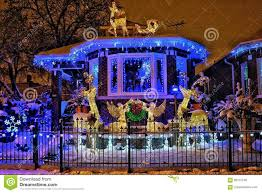 House Christmas Lights by Chicago House With Christmas Lights Stock Photo Image 82737249