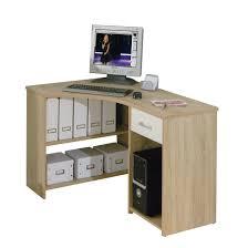 Corner Computer Desk With Storage Small Modern Corner Computer Desk Wood Construction Light Oak