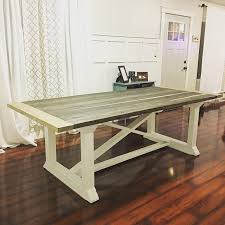 free farmhouse table plans free dining table plans www ana white com furniture plans